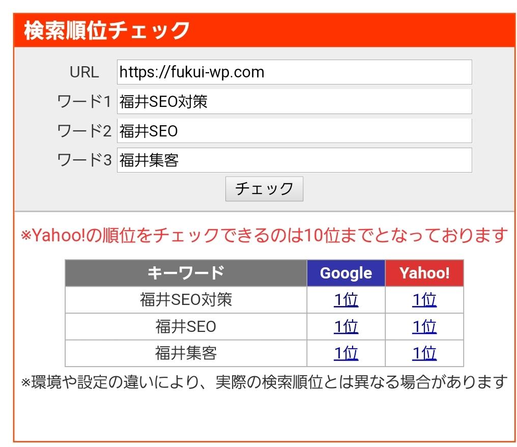 福井WEB集客キーワードで3冠達成!